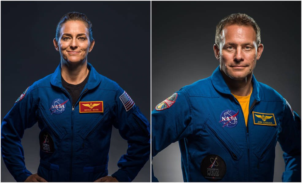 They will fly with the SpaceX Crew Dragon capsule