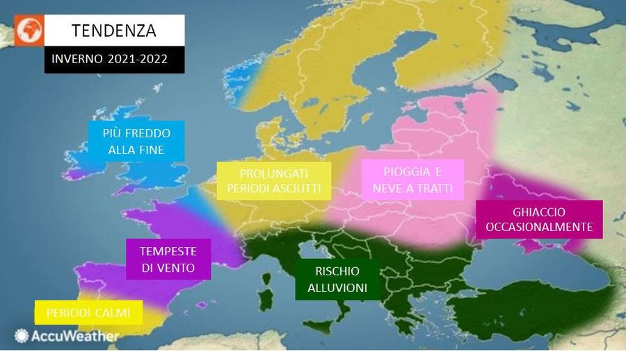 Winter 2021/22, ACCUWEATHER RUNNER, WILL BE SHOCK!  Direction from THRILLS »ILMETEO.it